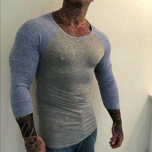 Shirts - Men's 3/4 sleeve t shirt